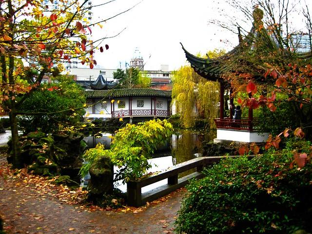 Jardín chino Chinatown Vancouver. British Columbia, Canadá.