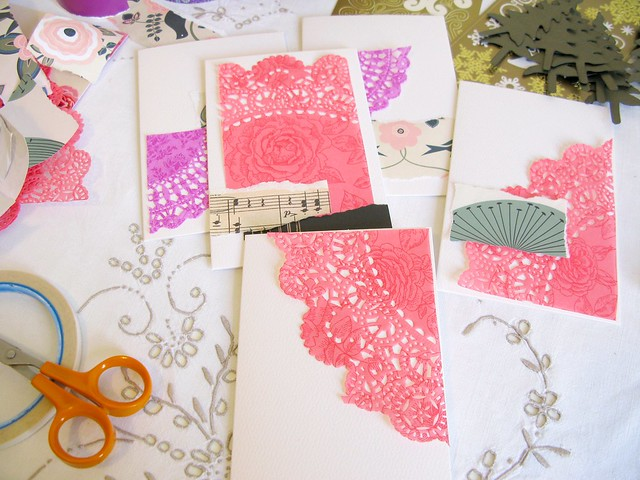 studio details : inspired by pink paper doilies | Emma Lamb