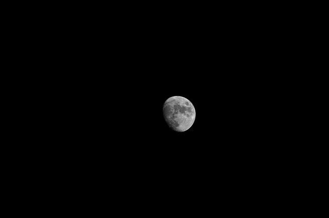 night Moon BW