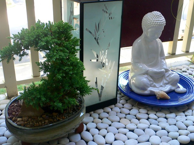 Zen garden on the balcony flickr photo sharing for Balcony zen garden