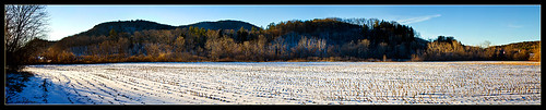 landscape vermont december fields bethelvt