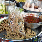 Bags of Bean Pods with Chili Sauce - Bangkok, Thailand