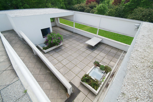 Villa Savoye Look Down On The Lower Roof Garden From The