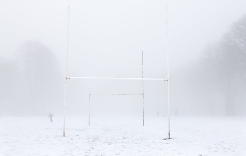 Foggy Rugby Pitch, Cardiff