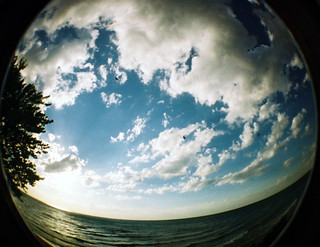 Michigan fisheye clouds