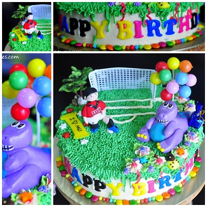 Barney Birthday Cake Template