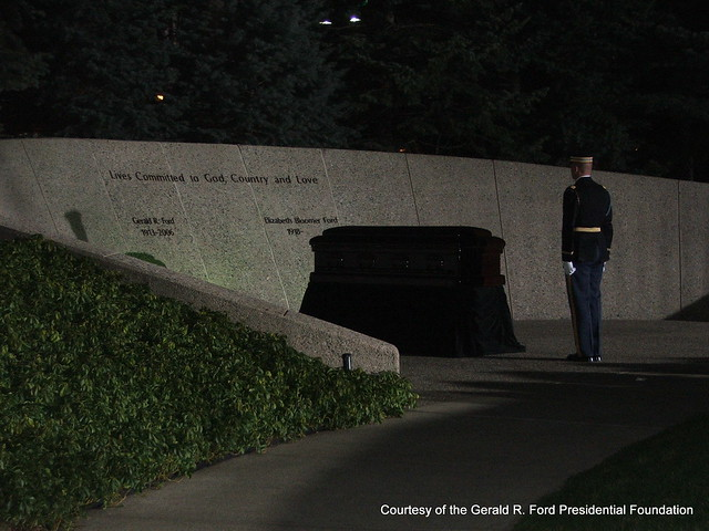 President Gerald R Ford Burial Site At The Museum In