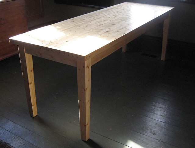 2x4 table clear finish flickr photo sharing for 2x4 farm table