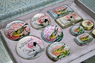 Miss Etoile bird weights, card holders and pill boxes