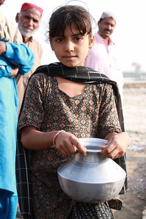 Collecting clean water in rural Sindh