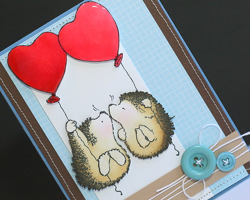 Hedgehog Kisses Card (detail)