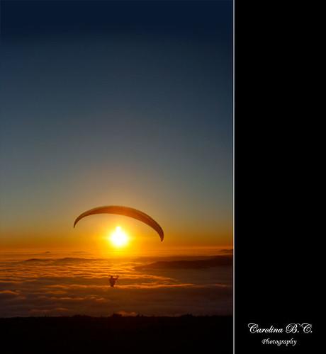 sunset sun sol fog atardecer fly huesca clowd niebla nube osca parapente volar boira núvol capvespre mardenubes elgrado 16012011 0240c