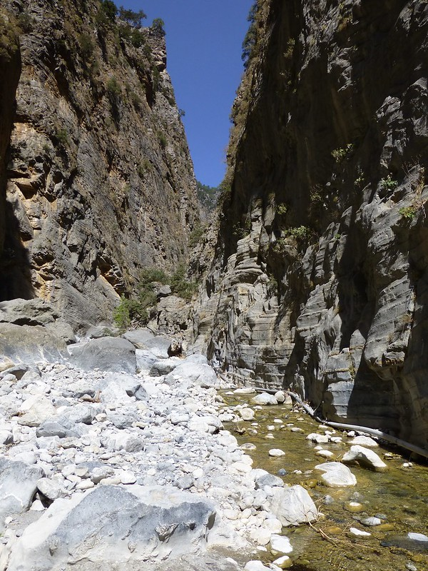 Flowing water in Samaria Gorge