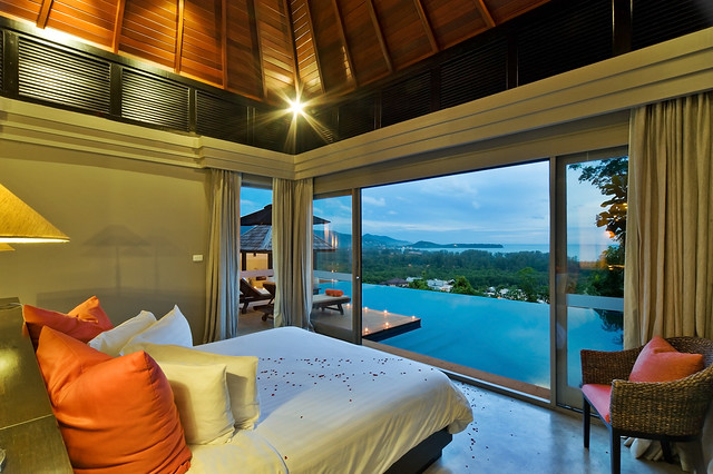 The Pavilions,Phuket Ocean view Pool from bedroom