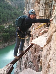 jumping(0.0), free solo climbing(0.0), adventure(1.0), sports(1.0), recreation(1.0), outdoor recreation(1.0), rock climbing(1.0), sport climbing(1.0), extreme sport(1.0), abseiling(1.0), climbing(1.0),