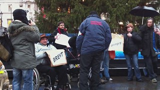 National Day of Protest Against Welfare & Housing Benefit Cuts - Trafalgar Sq (vid 2)
