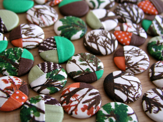 making quilted button badges