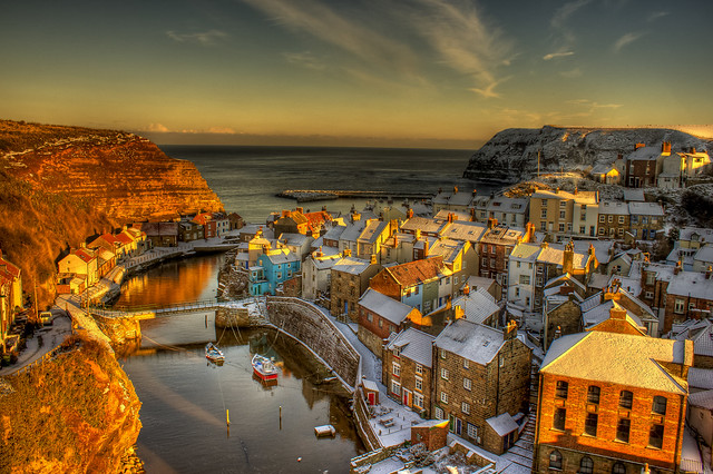Staithes Snow HDR!