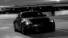 automobile, automotive exterior, wheel, vehicle, performance car, automotive design, nissan 350z, rim, bumper, land vehicle, monochrome, coupã©, supercar, sports car,