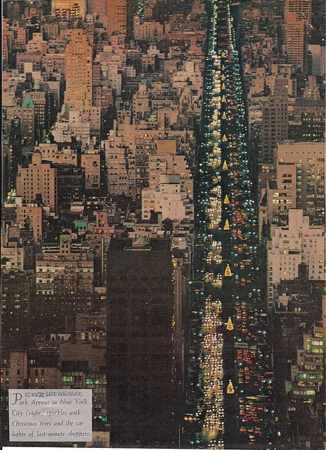 Christmas Time on Park Avenue, NYC (12-15-72 Life Magazine)
