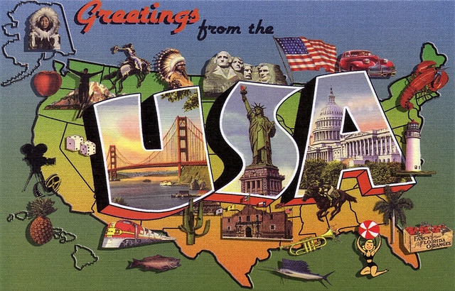 Greetings from the usa large letter postcard flickr
