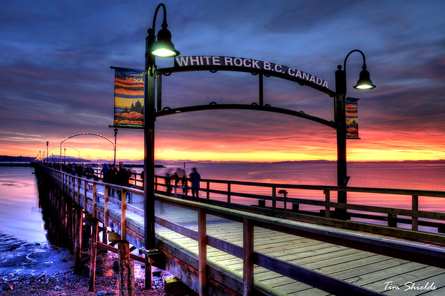 White Rock Pier under a beautiful sunset