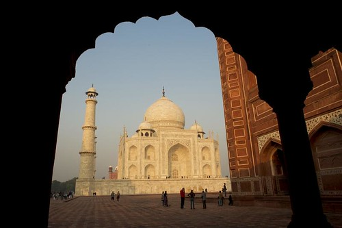 Agra  Taj Mahal from the mosque