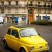 Yellow Fiat 595 by _Tophee_