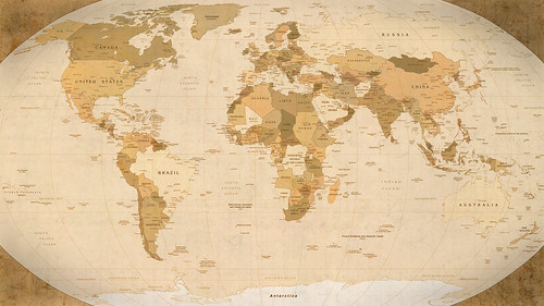 World Map Parchment wallpaper (2560x1440)