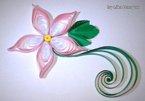 Fita Adesiva De Alto Impacto ~ Lika Hanyuu uff0d Artesanato Quilling [Quilling] Flor Rosa