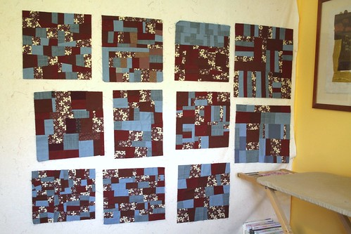 On the design wall - Triple B Bee Blocks