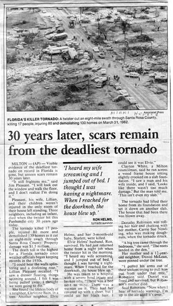 newspaper articles on recent tornadoes