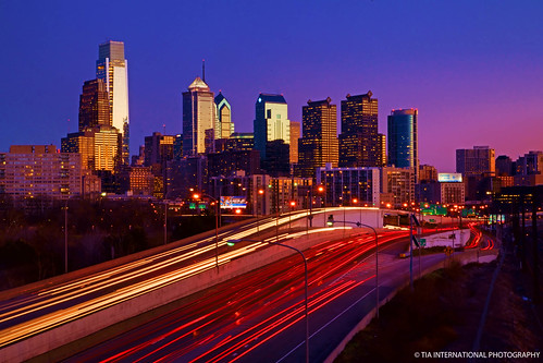 city blue winter light sunset urban sunlight reflection building philadelphia skyline skyscraper tia comcast landscape liberty stream downtown cityscape view place traffic dusk pennsylvania january center trail rush hour vista metropolis interstate philly tosin 76 arasi tiascapes ©tiainternationalphotography