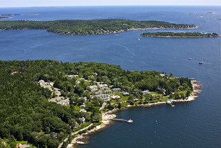 Spruce Point Inn Aerial - Boothbay Harbor, Maine