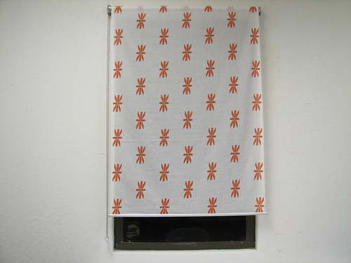 Minor ikea hack rollup curtains with custom printed for Ready made blinds ikea