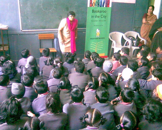 Jeeva entertains the kids with her antics