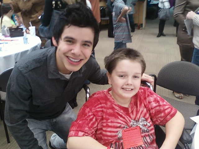 David Archuleta Visits Children's Medical Center in Dallas