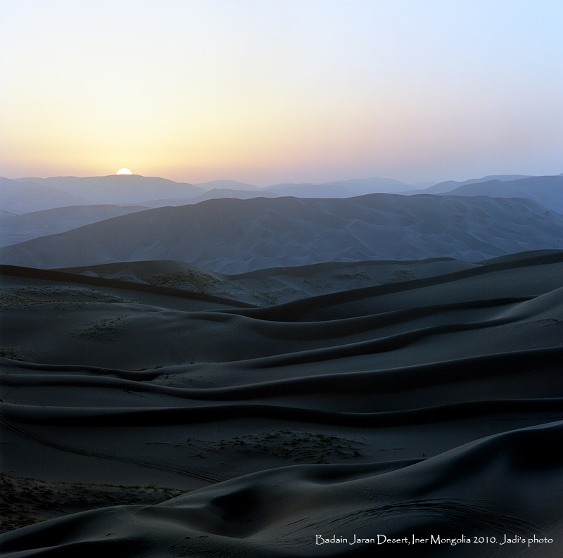 sunrise in desert