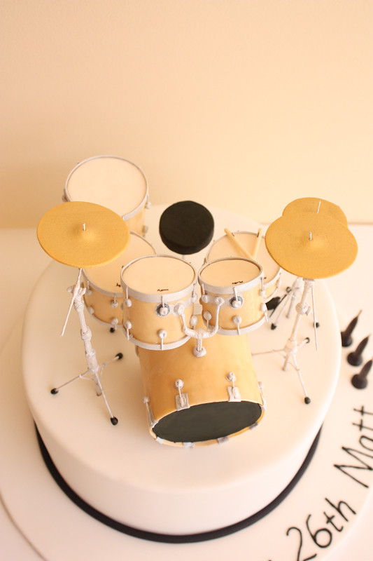 Drum Kit Birthday Cake Above A Photo On Flickriver