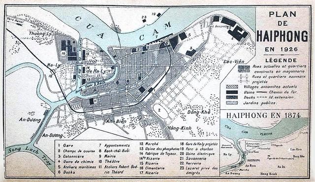 Plan de HAIPHONG en 1926