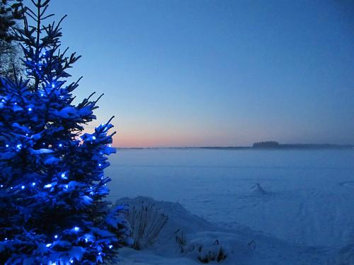 blue winter lake snow nature suomi finland landscape lights scenery december oulu lumi talvi maisema luonto sininen valot kuivasjärvi joulukuu