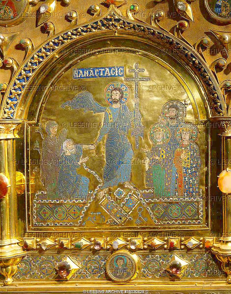 Pala d 39 oro detail 2 the resurrection anastasis a for Pala de oro