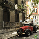 Classic Truck on the Streets of Montevideo, Uruguay