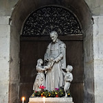 Statue of Saint-Vincent de Paul in Church of Saint-Paul Saint-Louis, Paris, France