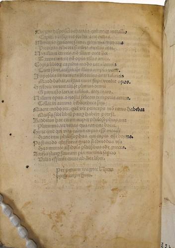 Partially inked page in Beda [pseudo-]: Repertorium auctoritatum Aristotelis et aliorum philosophorum
