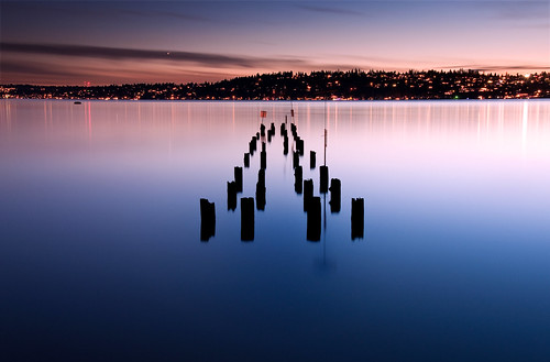 sunset lake water washington bravo lakewashington pilings kenmore logboompark