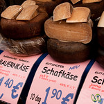 Aged Cheeses at Brunnenmarkt - Vienna, Austria