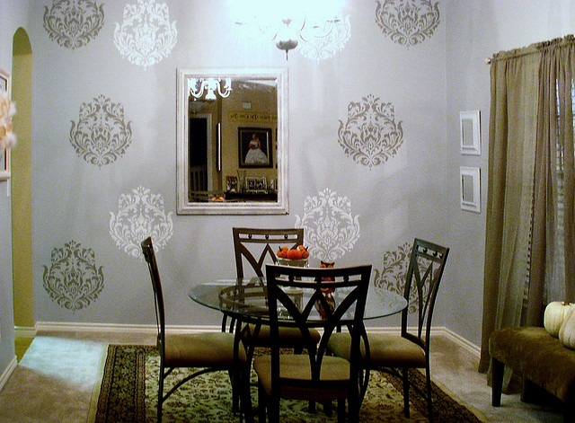 dining room decor with stencils beautiful wall stencils b flickr