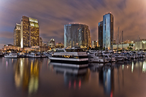 ocean longexposure reflection water marriott hotel harbor boat downtown ship sandiego hyatt