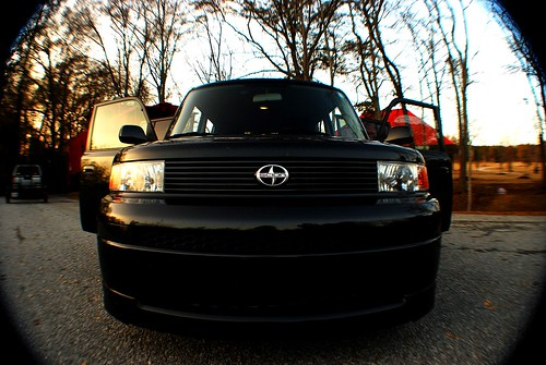 sunset black doors 2006 fisheye scion xb